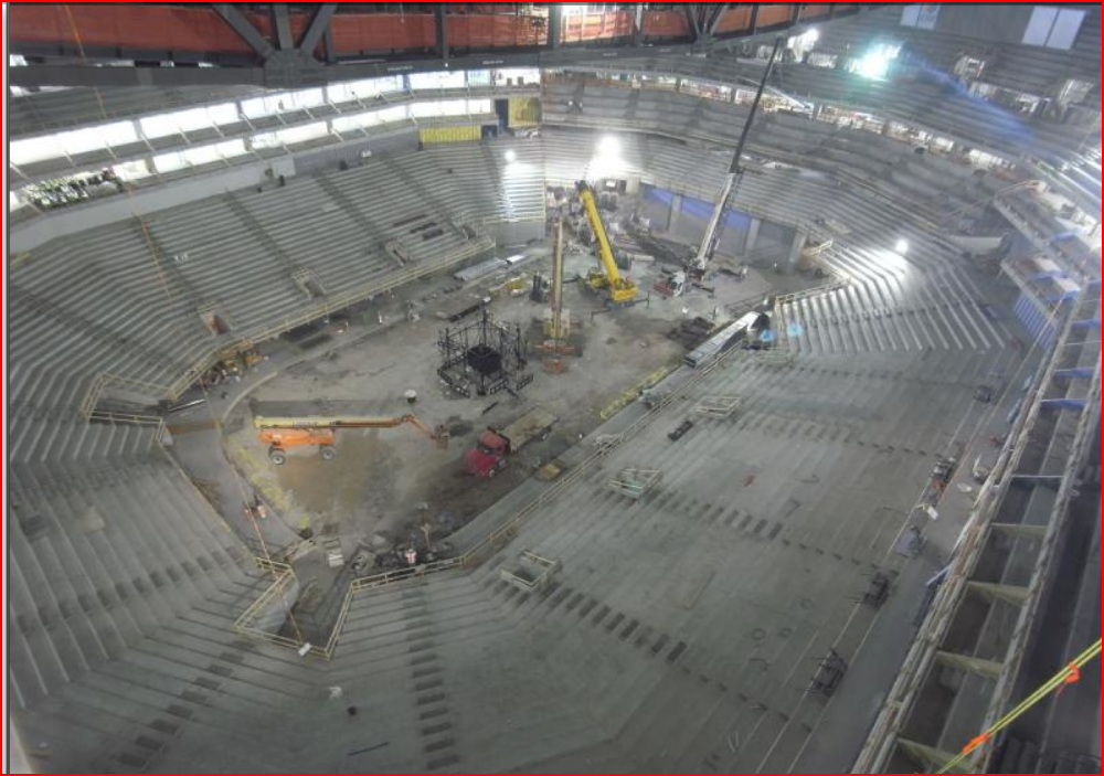 U of L arena construction