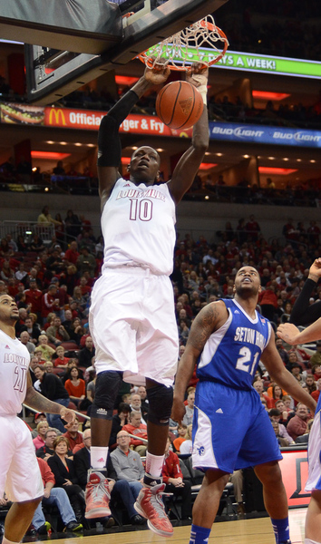 Gorgui takes offense in UofL romp over Seton Hall