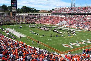 Scott Stadium in Charlottesville