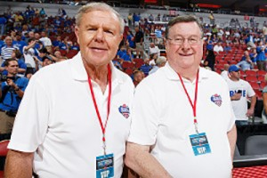 Denny Crum and Joe Hall