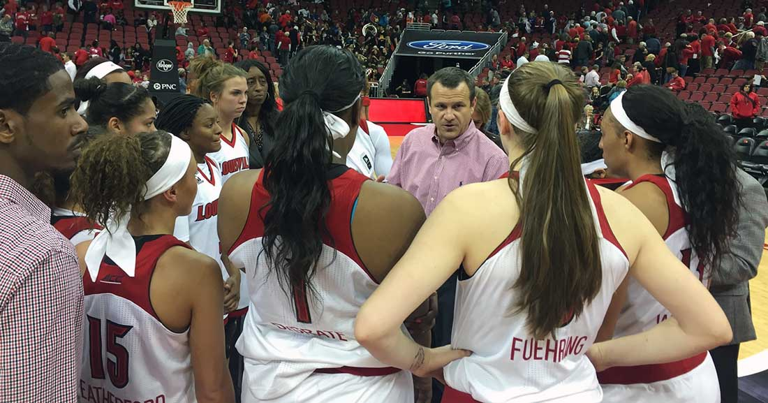 Jeff Walz collects his troops.