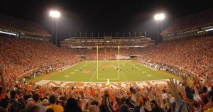 Clemson's Memorial Stadium awaits Louisville football team in 2016.