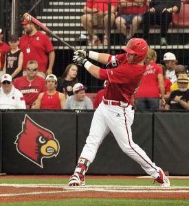 Brendan McKay clears the bases. File photo by Cincy Rice Shelton.