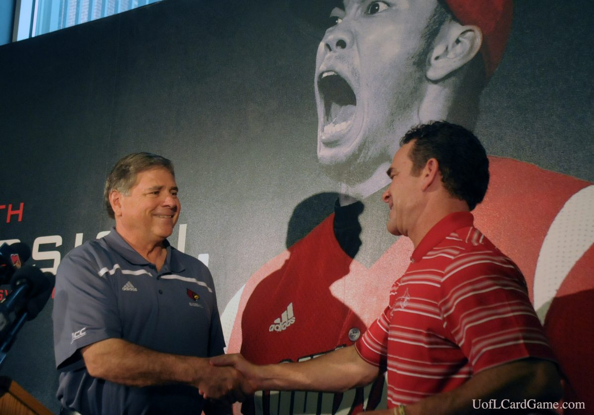 Tom Jurich with another milestone, a million for UofL baseball coach