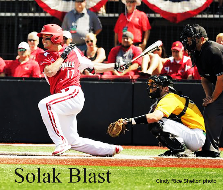 Nick Solak powers Louisville baseball to Super Regional