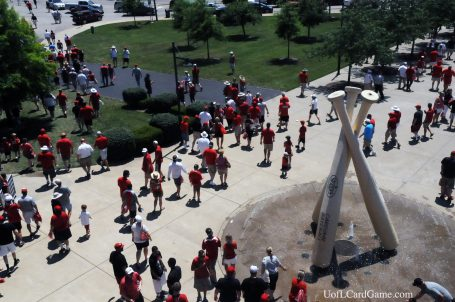 UofL fans depart Jim Patterson Stadium following final game but before setting an all-time attendance record.