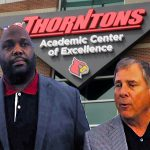 Tom Jurich and Marvin Mitchell