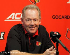 Why is Bobby Petrino smiling?