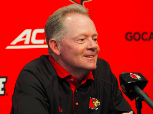 A little early for Bobby Petrino to get too excited. (Cindy Rice Shelton photo)