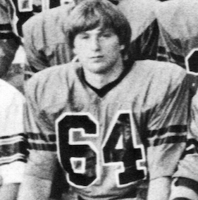 Kelly Dickey played guard on offense and defense for state champion Russellville in 1983.