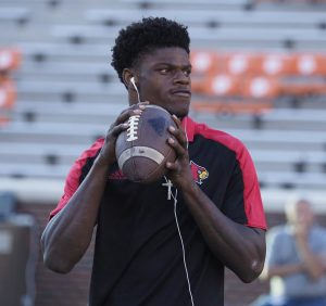 Lamar Jackson rewriting NCAA record books. (Cindy Rice Shelton photo)