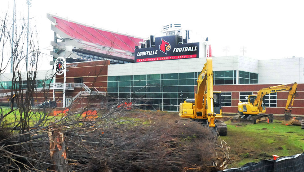 Papa John's Cardinal Stadium expansion has begun