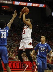 Asia Durr found the basket often enough to score 15 points (Cindy Rice Shelton photo).