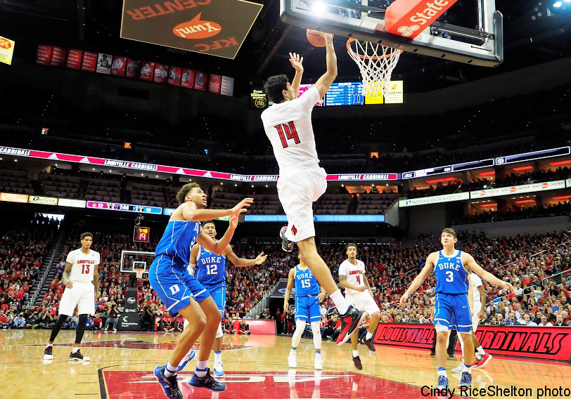 Anas Mahmoud figuring out this college basketball, Louisville rips Duke