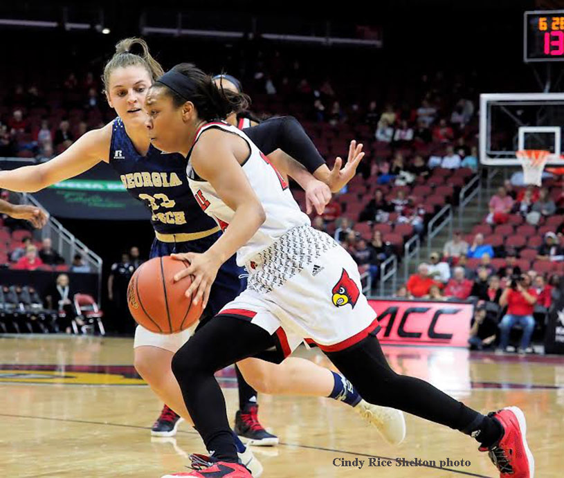 Durr leads Louisville women to No. 100 at the Yum! Center