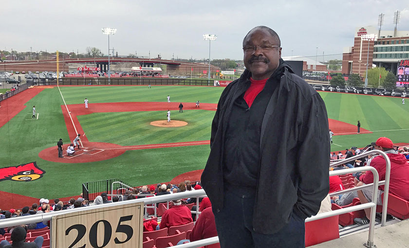Donald Hairston never misses a game at Jim Patterson Stadium