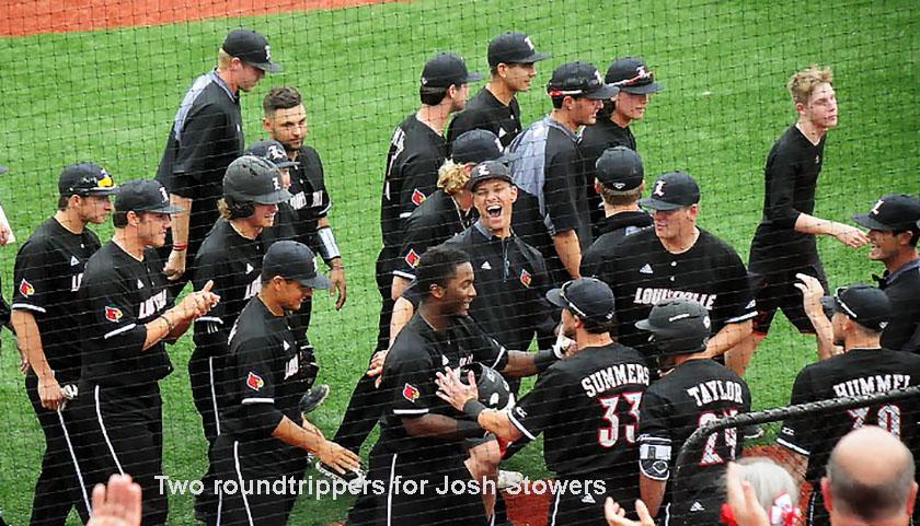 Two home runs for Josh Stowers, powering UofL past Toledo