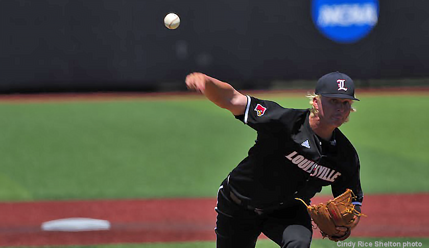 Bordner cuffs Texas A&M batters, Louisville advances in CWS