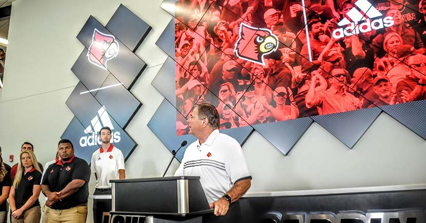 Adidas in good times and bad times for University of Louisville