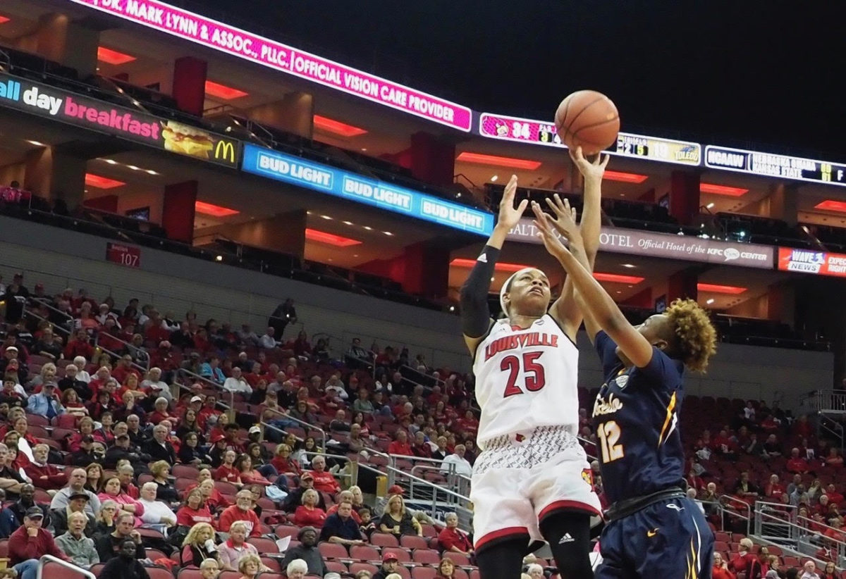 Hines-Allen, Jones in control, UofL women pound Toledo