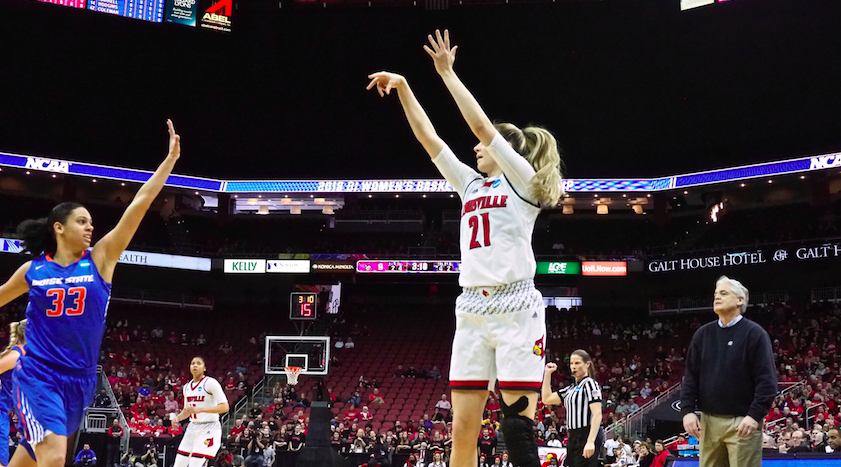 Kylee Shook ready early, UofL women cruise in NCAA opener