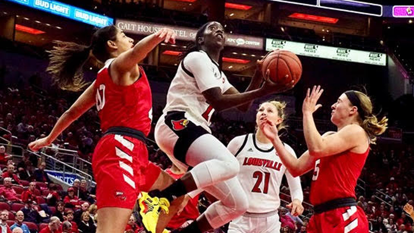 Louisville women dispatch Western Kentucky in opener