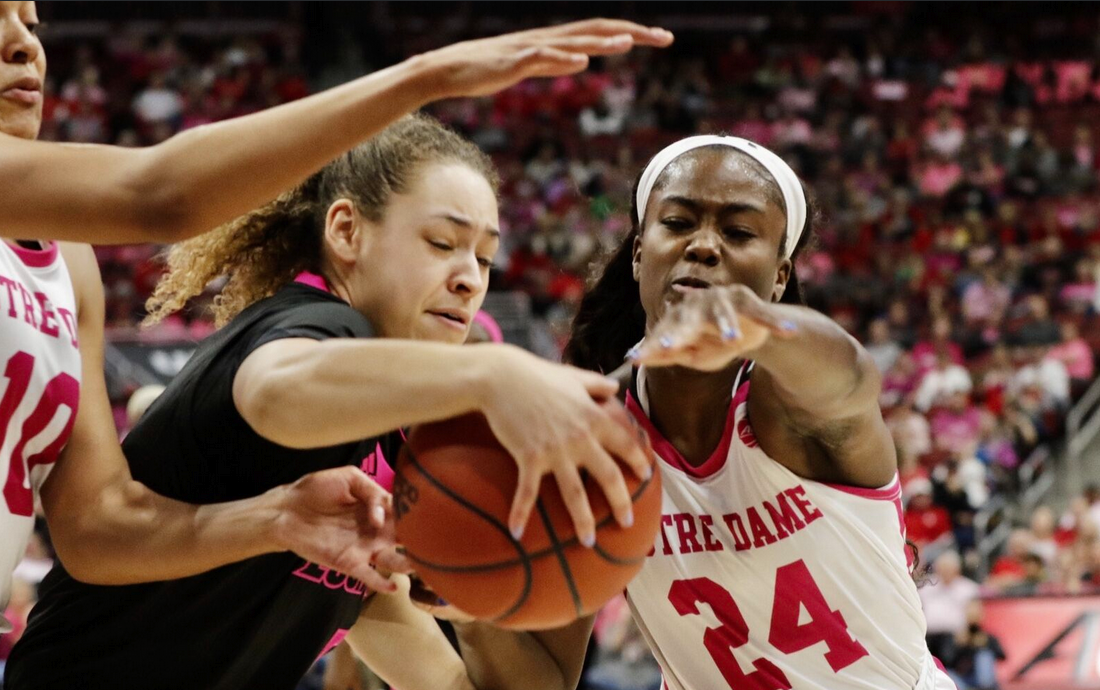 12,086 see Louisville women pound Notre Dame again