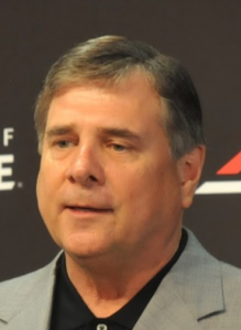 Tom Jurich fully engaged.
