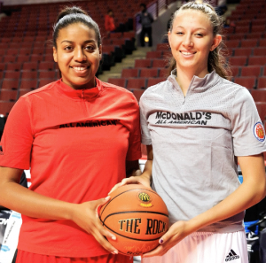UofL recruits Cierra Johnson and Kylee Shook.