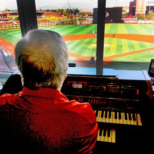 Al Greener's view from the press box at Jim Patterson Stadium.