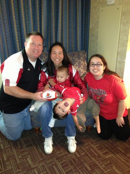 Kelly Dickey with his wife Katie, daughter Emily and sons Robert and Benjamin.