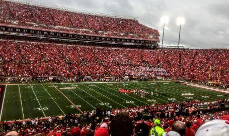 Record crowd of 55,694 at Papa John's Cardinal Stadium.