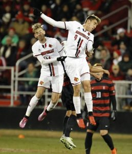 One game short of the College Cup for UofL but it's still the year 2016 (Cindy Rice Shelton photo).